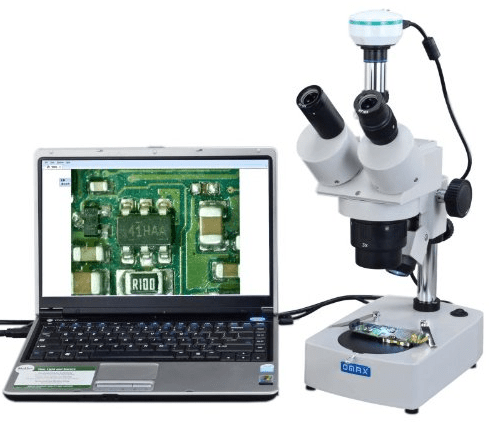 10X TO 60X Digital Trinocular Stereo Microscope with 2.0MP USB Digital Camera and Dual Illumination System