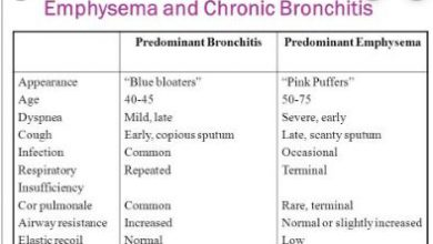 Difference Between Chronic Bronchitis And Emphysema